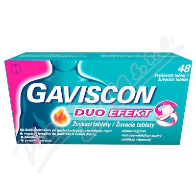Gaviscon Duo Efekt žvýkací tablety tbl.mnd.48
