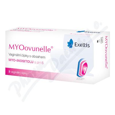 MYOovunelle vaginální čípky 3ks