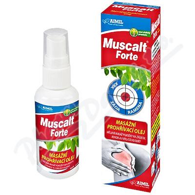Aimil Muscalt Forte masážní prohřívací olej 60ml
