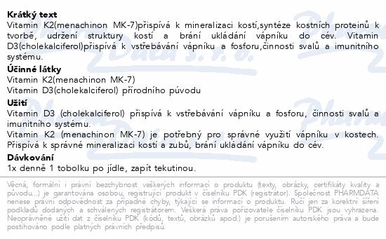 Biomin VITAMIN K2+D3 1000 I.U. 60 tob.